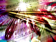 Sounds Digital Art - Luminous Song by R Kyllo