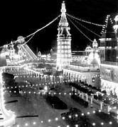 Luna Park Art - Luna Park - Coney Island - New York at night - c 1903  by International  Images