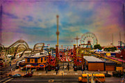 Amusements Framed Prints - Luna Park-a-Rama Framed Print by Chris Lord