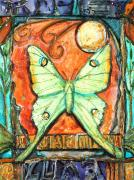 Luna Mixed Media Prints - Luna Print by Patricia Allingham Carlson