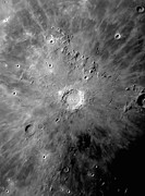 Copernicus Prints - Lunar Crater Copernicus Surrounded Print by Phillip Jones