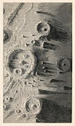 Craters Prints - Lunar Craters, 1866 Artwork Print by Detlev Van Ravenswaay