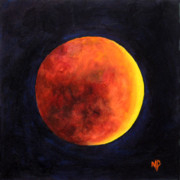 Celestial Paintings - Lunar Eclipse by Marina Petro