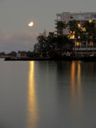 Eclipse Posters - LUNAR ECLIPSE over HILO BAY HAWAII Poster by Daniel Hagerman