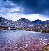 Wester Ross Prints - Lunar Loch and Ben Eighe Print by Maciej Markiewicz