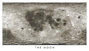 Selenology Prints - Lunar Map Print by Detlev Van Ravenswaay