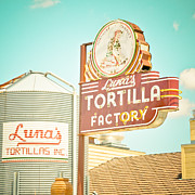 Dallas Texas Framed Prints - Lunas Silo and Sign Framed Print by David Waldo