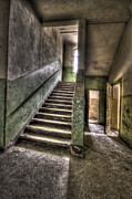 Disused Prints - Lunatic stairs Print by Nathan Wright