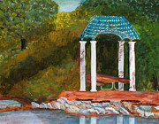 Fort Collins Painting Originals - Lunch at City Park by Rosemary Buettgenbach