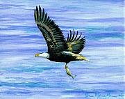 American Eagle Paintings - Lunch at Last by Anne Marie Brown