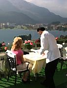 Dine Digital Art - Lunch on the Terrace by Carl Purcell
