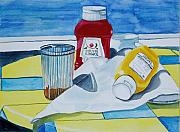 Ketchup Paintings - Lunch Reflections by Gerald Carpenter