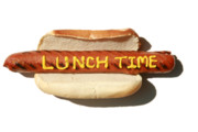 Hot Dogs Art - Lunch Time by Michael Ledray
