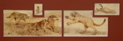 Mammals Pyrography Originals - Luncheon Dispute by Jerrywayne Anderson