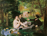 Couples Painting Prints - Luncheon on the Grass Print by Edouard Manet