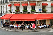 European Cafes Prints - Lunchtime in Paris Print by Michael Biggs