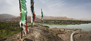 Tibetan Buddhism Prints - Lunda Poles Near Yellow River. View Print by Phil Borges