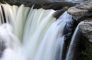 Alberta Water Falls Prints - Lundbreck Falls Detail Print by Bob Christopher