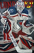 Goalie Paintings - Lundqvist by David Courson