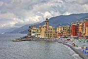 Ligurian Sea Framed Prints - Lungomare in Camogli Framed Print by Joana Kruse