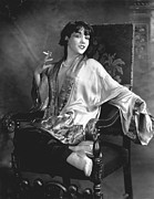 Smoking Book Prints - Lupe Velez, Circa 1920s Print by Everett