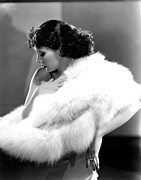 Lupe Acrylic Prints - Lupe Velez Wearing White Fox Cape, Ca Acrylic Print by Everett