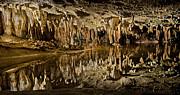 Luray Caverns - Virginia - Reflections At Dream Lake Print by Brendan Reals