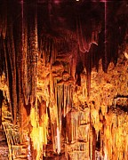Caverns Mixed Media - Luray Caverns by Anne-Elizabeth Whiteway