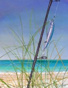 Fishing Lure Paintings - Lure of the Island by Joan Garcia