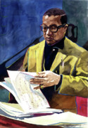 Music Icon Prints - Lush Life Billy Strayhorn Print by David Lloyd Glover
