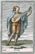 Lutenist Framed Prints - Lute, 1723 Framed Print by Granger
