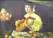 Caravaggio Paintings - Lute player by Veronica Dinca