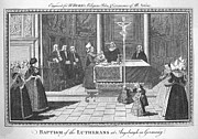 Baptism Photos - Lutheran Baptism, 1790 by Granger