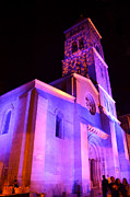 Cool Digital Art Originals - Lutheran Church at Night by Moshe Moshkovitz