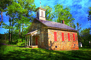 Red School House Art - Lutz-Franklin Schoolhouse by Paul Ward