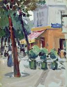 Abstract Expressionism Framed Prints - Luxembourg Gardens Framed Print by Samuel John Peploe