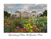 Luxembourg Gardens Prints - Luxembourg Palace and Gardens Print by Kent Sorensen