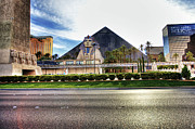 Nba Digital Art Framed Prints - Luxor Las Vegas Framed Print by Nicholas  Grunas