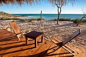 Luxurious Terrace On The Beach Print by Pierre-Yves Babelon