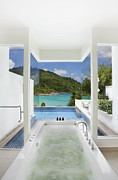 Pool Break Prints - Luxury Bathroom  Print by Setsiri Silapasuwanchai