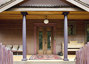 Front Porch Posters - Luxury Home Exterior Poster by Andersen Ross