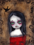 Gothic Surreal Framed Prints - Luzie Framed Print by  Abril Andrade Griffith