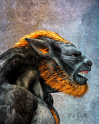 Myth Mixed Media Prints - Lycan Print by Bob Orsillo