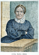 Abolition Photo Framed Prints - Lydia Maria Child (1802-1880) Framed Print by Granger