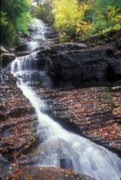 Manchester Vermont Prints - Lye Brook Falls Autumn Print by John Burk