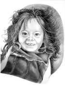 Child Drawings Originals - Lying Lucy by Murphy Elliott