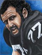 Raiders Paintings - Lyle Alzado by Kenneth Kelsoe