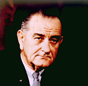 Lyndon Acrylic Prints - Lyndon B. Johnson 1908-1972, U.s Acrylic Print by Everett