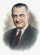 Lyndon Art - Lyndon B.johnson (1908-1973) by Granger