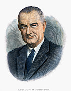 Lyndon Art - Lyndon Johnson (1908-1973) by Granger